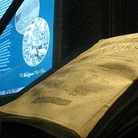 First folio on display