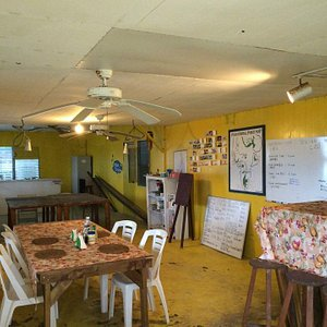 Peleliu restaurant inside dive shop