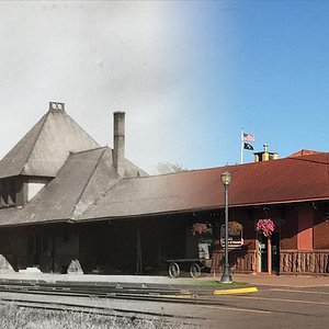 Ironwood Historic Depot & Museum THEN 1893 & NOW