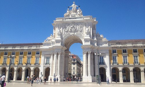 Arco da rua augusta, conjunto monumental do Terreiro do Paço (Lisboa)
