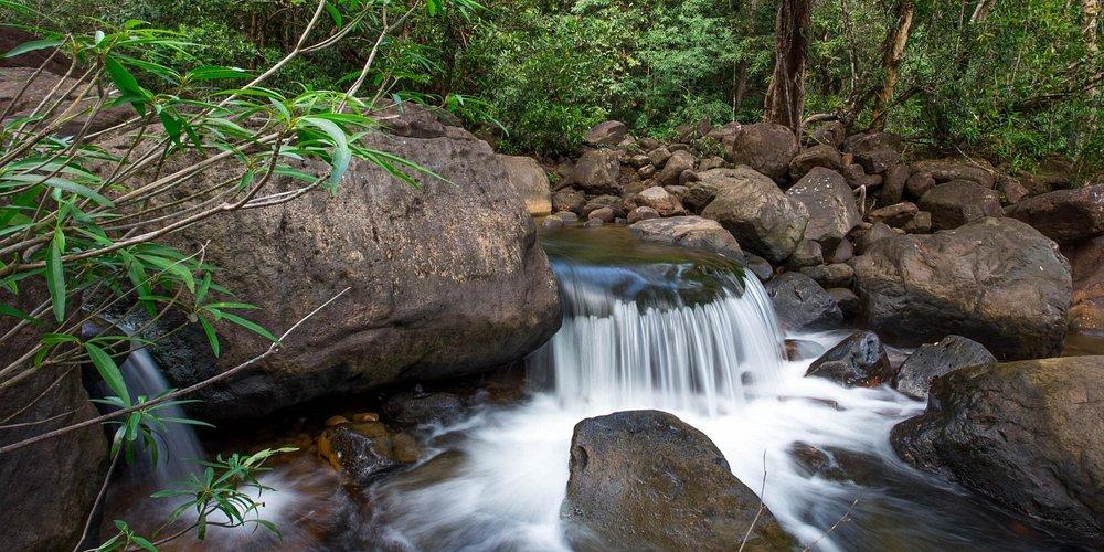 Anglung Thom waterfall, Kampot Province,Cambodia.