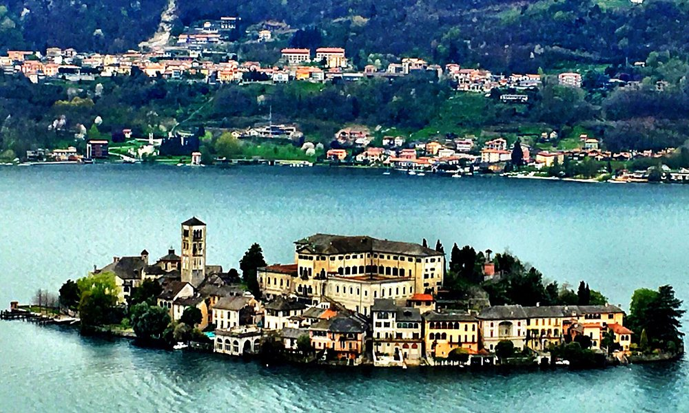 San Giulio Islands from the hills