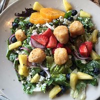 Ginger Scallop Salad. Beautiful and delicious.