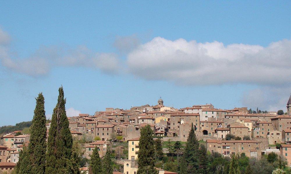Vista del borgo antico di Seggiano
