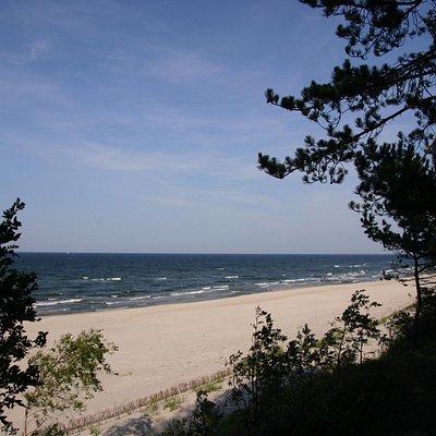 Plaża na Półwyspie Helskim przy górze Libek