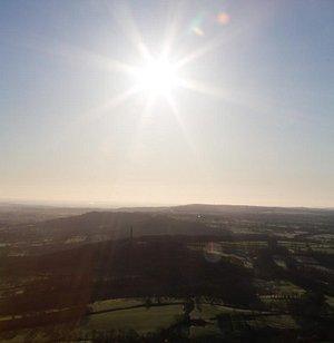Stunning Devon sunshine from the skies.