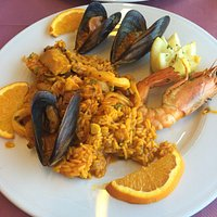Fabulous Seafood Paella - without peas by special request! :-)))
