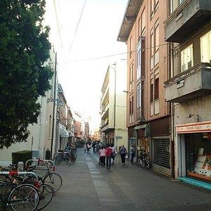 Via Garibaldi further from centre