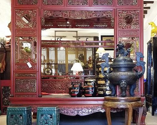 Antique Red Bed from Qing Dynasty