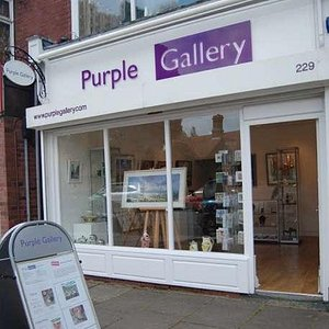 Outside the Purple Gallery in Mary Vale Road Bournville