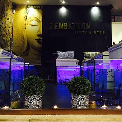 Our nice fish spa area