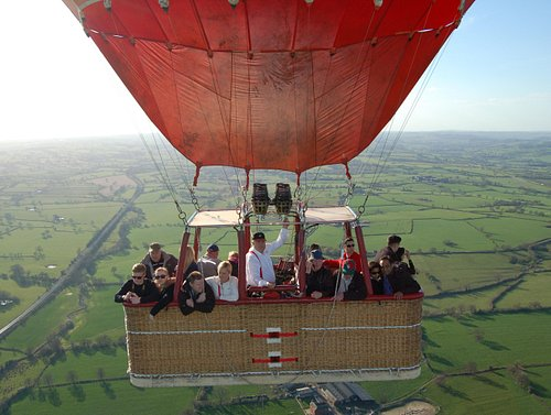 The beautiful countryside around Uttoxeter is best seen from a hot air balloon.