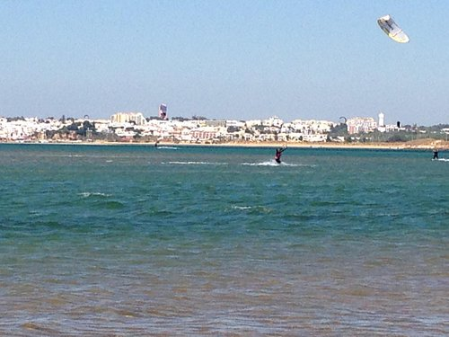 kiting in the lagoon