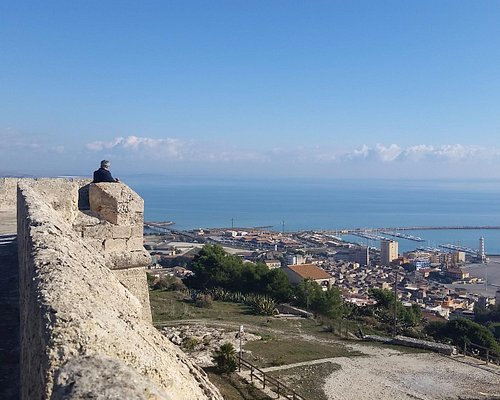 a view of Licata port from the Castel