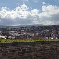 The view of Whitby from the top of the steps