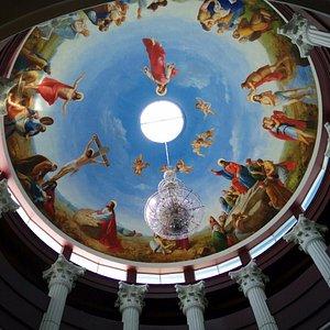 The fresco painting at Sophilia Fine Art Center