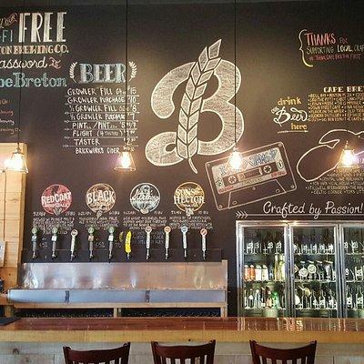 Breton Brewing Co Tap Room Bar