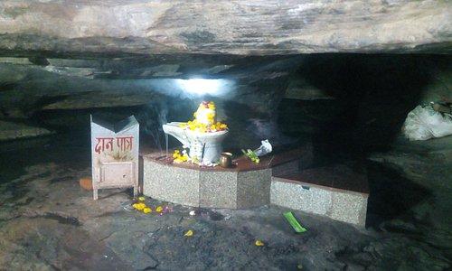 Shiv Linga inside caves