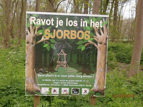 sjorbos - panneau à l'entrée du bois ...