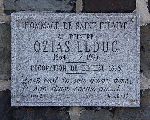 Commemorative plaque for Ozias Leduc