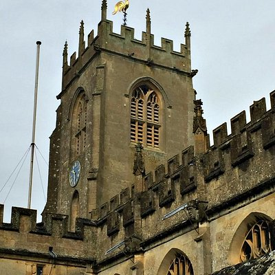 St. Peter's church tower with gilded weathercock