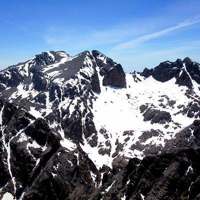 Гора Уанукрим. Вид с Джебель Тубкаль.