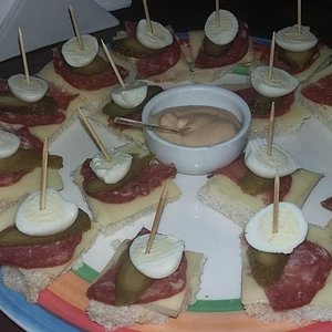 Sanduich abierto- delicioso