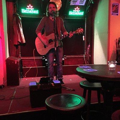 Live music at the pub! April 21, 2016. Excellent singer!