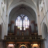 The organ and choir area...