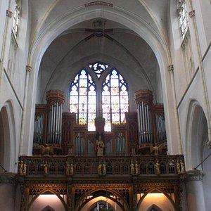 The organ and choir area...