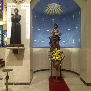 Statue of Saint Joseph the Worker and Eugene de Mazenod