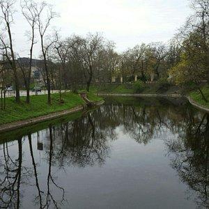 Inner city moat.