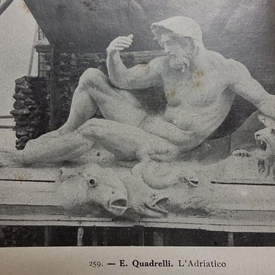 scultura in documento dell'epoca