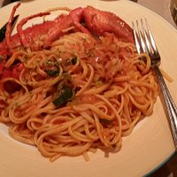 Linguine with half lobster. Delicious!