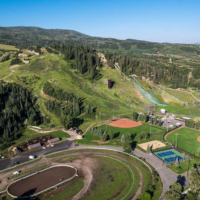 Summer aerial view of Howelsen Hill by Cedar Beauregard