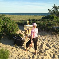 As an artist I find Bank Street Beach an inspiration and joy to paint.