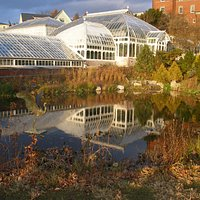 This is the Lyman Plant House, a Victorian conservatory, at Smith College in Northampton, MA.