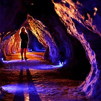 Stunning colours inside Ruakuri Cave