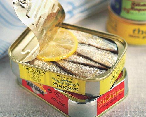 Les sardines de la Conserverie la belle-iloise
