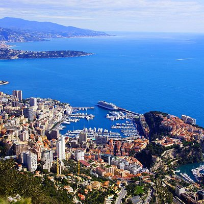 Three countries in one photo, Italy, France, and Monaco