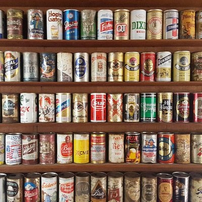 Old beer wall.