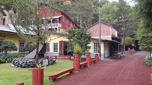 Vista de la entrada y la cafetería.