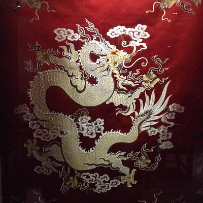 An example of fabric found in the Brocade and Embroidery Museum