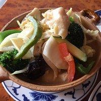 A3 (Hähnchenbrustfilet mit Gemüse in Kokosnussmilch, mit Reis)