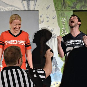 A hilarious moment as two ComedySportz players face off for bigger laughs!