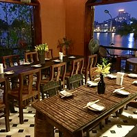 Dinning over looking the stunning West Lake Hanoi