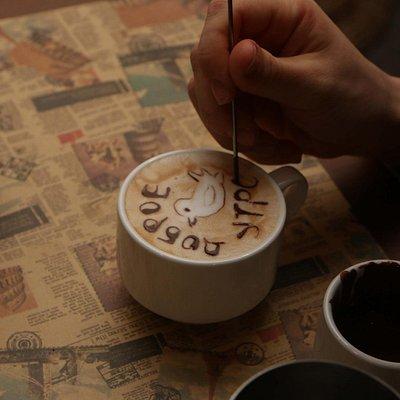 латте-арт - кофе может быть не только вкусным, но и красивым:)