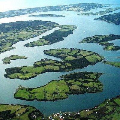 archipièlago de las Chauques. !4 o 7 islas , segùn la marea...
