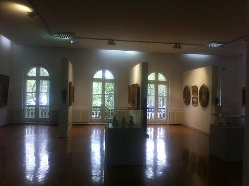 One of the halls on the second floor