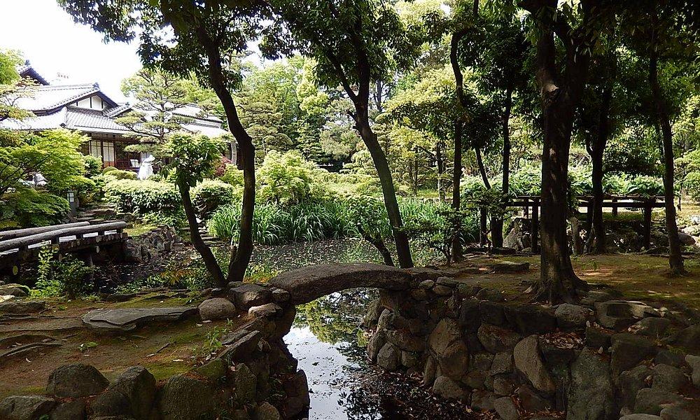 庭園と本屋